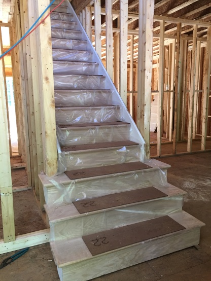 Staircase going to upper level