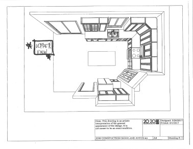 kitchen top view drawing